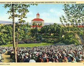 Vintage California Postcard - Frost Amphitheater at Stanford University (Unused)