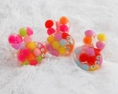 Candy Puff Bunny Cabochon Ring