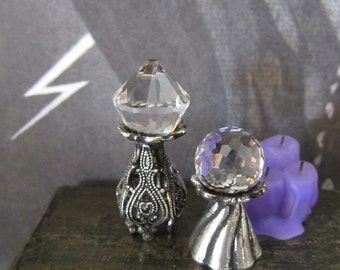 Scrying Crystals set dollhouse miniature, fortune teller, witch, wizard, fairy, spooky, gypsy, Halloween in 1/12 scale