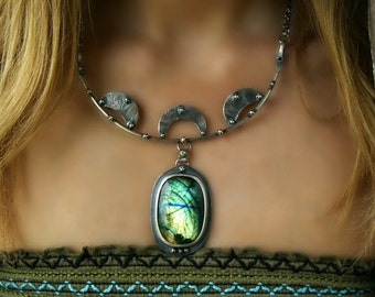 RESERVED - Aurora - Labradorite Sterling Silver Necklace