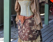 STEAMy Summer sale!! Brown overskirt with Tails, 50% off!