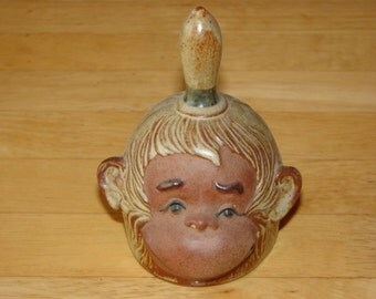 Monkey Head Bell Collectible UCCTI Pottery