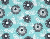 CLEARANCE SALE Regina by Michael Miller Fabrics | Aqua Gray Grey | By The Yard