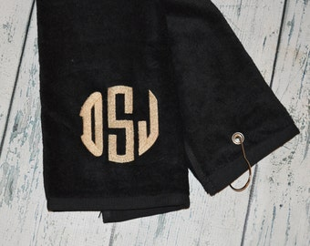 Personalized Golf Towel Custom Embroidered
