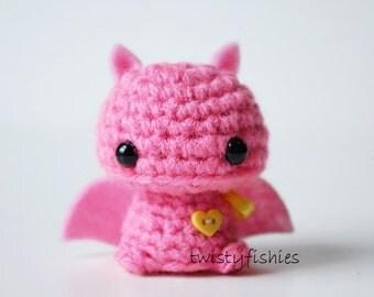Baby Pink Bat - Kawaii Mini Amigurumi Plush