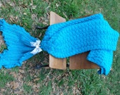 Mermaid Tail Lapghan Afghan for Adult Ready to Ship