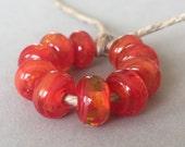 Tahat Swirls  - 10 Handmade Lampwork Beads SW 96