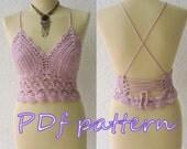 Bohemian lace crochet halter top pattern