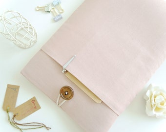 "11"" 13"" 15.6"" Laptop Sleeve Cover MacBook Cover, Pro, Air, Windows, Surface Pro, 12"" New MacBook Case - Vintage Rose Linen"