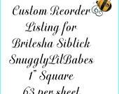 Custom Reorder LIsting for Britesha SIblick - Snuggy LIl Babes