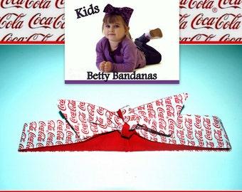 KIDS...Betty Bandana in Coke a Cola Print....New Size & Style