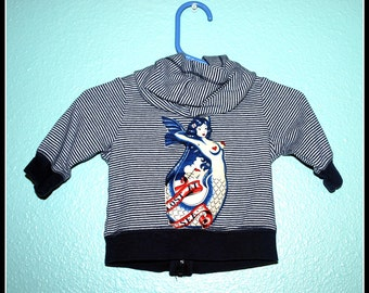 Boys Rockabilly Lost at Sea Hooodie....size 3 months