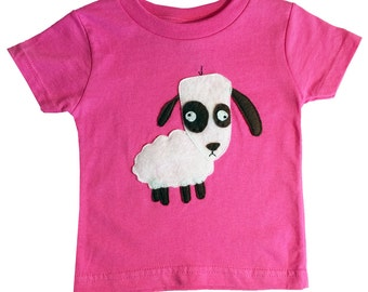 mi cielo x Matthew Langille - Sheep – Raspberry Toddler T-Shirt – Boys or Girls