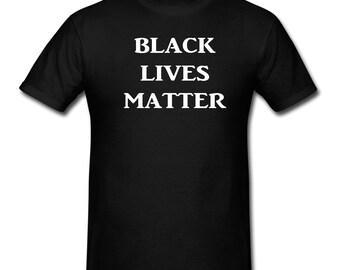 Black Lives Matter - T-Shirt Silkscreen Handmade Graphic Tees Silk Screen Silkscreened Tshirt Children Youth Women Men S-M-L-XL Shirt