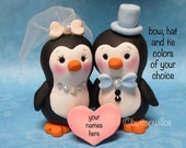 Penguin Wedding Cake Topper