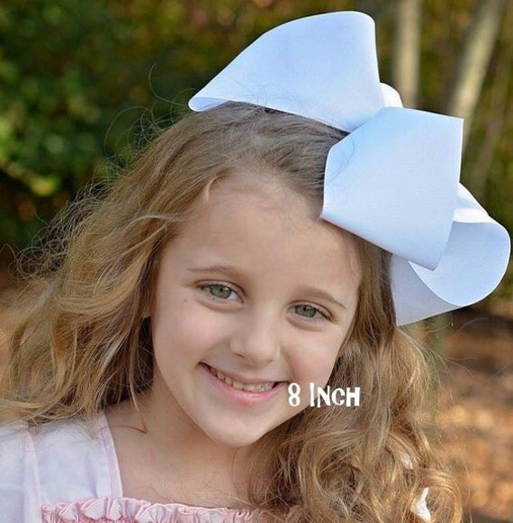 Big Bow, Jumbo Hair Bow, Girls Large Hairbow, Southern Style Bow, 6 7 or 8 Inch Bows, Texas Sized Bows, Girls Jumbo Bows, X-tra Large, SSB