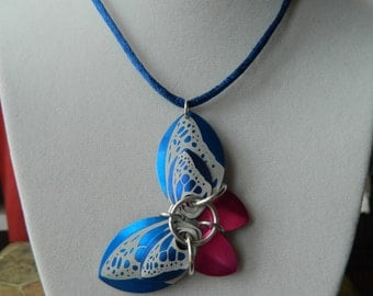 Butterfly Pendants with Blue