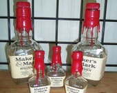 70% OFF CLEARANCE Empty Bottle Whiskey Makers Mark Set of 2 Large 3 mini