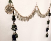 Sale! Mixed tassel and brass booty drape for tribal style BellyDance with metal fringe