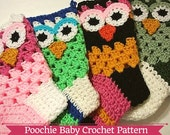 Crochet PATTERN - Owl Holiday Stocking