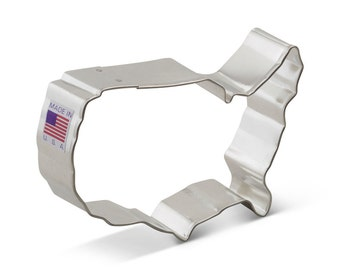 USA Map United States Cookie Cutter for 4th of July, Military, Scouts, Patriotic, Elections, political cookie cutter a