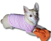 Pink Polka T-shirt Dog Shirt - 4 Sizes Available - Love it or send it back - Guaranteed to fit