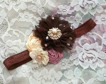Headband/Baby Headband/Baby Girl Headband/Newborn Headband/Victorian style headband Girl/Girls Headband/Baby Headbands/Hair Bows