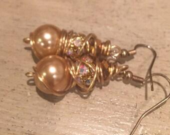 South sea shell pearl earrings