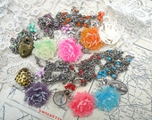 choice peony necklace duo assemblage duet spring blossom