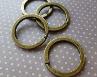 UK free postage Bronze Key Split Ring Pack of 10