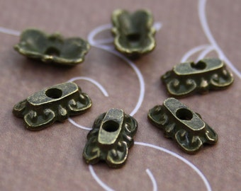 Antique Bronze Angular Bead Cap Pack of 30 pcs