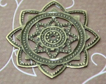 Pack of 20 – Antique Bronze Filigree Component