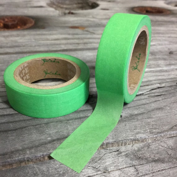 Washi Tape - 15mm - Apple Green - Deco Paper Tape No. 7