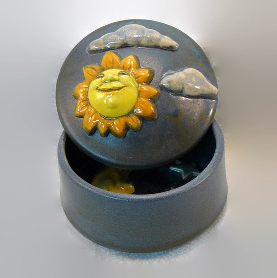Ceramic Keepsake Box - Day and Night