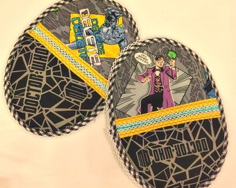 Handmade Set of two Dr Who pot holders, comics, fantasy, kitchen, baking, Bridal shower gifts