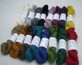 Mini Skeins - Knit Picks Gloss Fingering 5 g set of 16 (complete set)
