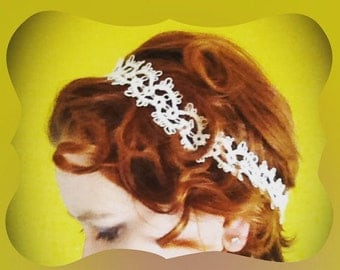 Tatted lace headband