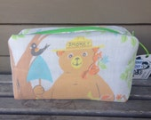 Smokey the Bear Zipper Pouch Recycled