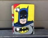 Batman 3 Fold Chain Wallet Recycled