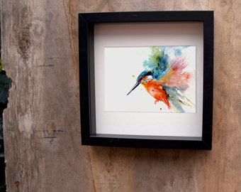 LIMITED Edition print of my  'KINGFISHER' hand signed, illustration, animal art