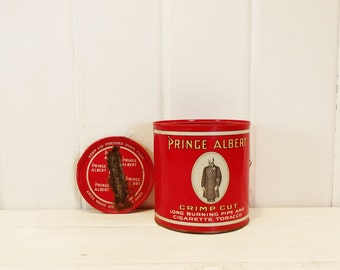 Vintage Tobacco Tin Prince Albert Can with Lid
