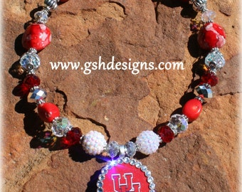 U of H Inspired Necklace University of Houston Cougars