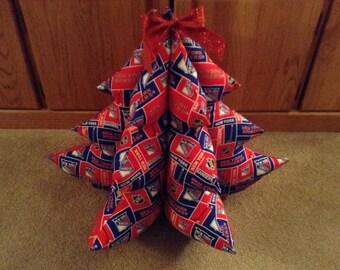 New York RANGERS Fabric Christmas Tree