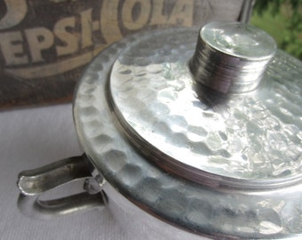 Vintage Hammered Aluminium Ice Bucket Leumas Handcrafted Giftware