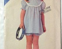 Butterick 3816  GIRLS toddler dress panties size 1 23  button close taglan sleeves easy sewing pattern uncut