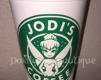 Tinkerbell travel coffee cup