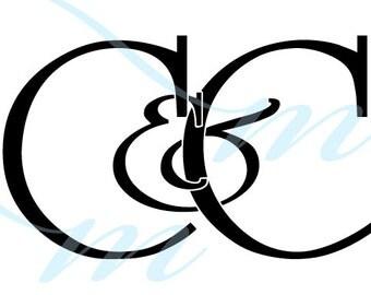 SALE - C VARIATIONS - Intertwining Ampersand Monogram