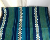 Vintage Scandinavian Folk Weaving Southwest Table Runner Fabric Hand Woven SALE