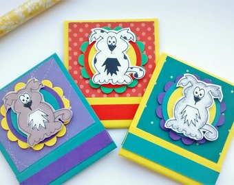 Dog Notepads - Matchbook - Pet Lover Gift - Mini Notepads - Party Favor - Purse-sized Notepads