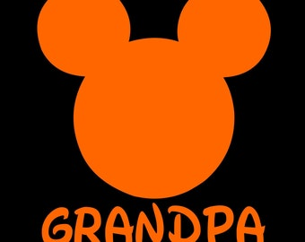 Mickey Mouse Grandpa SVG JPEG instant digital file download for vinyl cutters